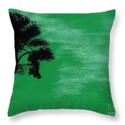 Green Sky Sunset Throw Pillow