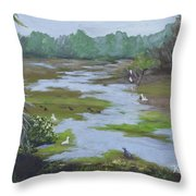 Green Slime Throw Pillow