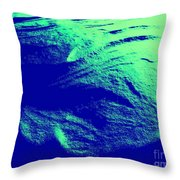 Green Snow Dune Abstract Throw Pillow