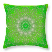 Green Space Flower Throw Pillow by Hanza Turgul