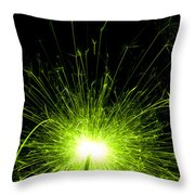Green Sparkle Throw Pillow