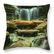 Green Spring Cascades Throw Pillow
