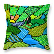 Green Spring Morning Throw Pillow