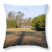 Green Stables - Lake Wheeler Road Throw Pillow