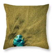 Green Stone Throw Pillow