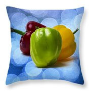 Green Sweet Pepper - Square - Textured Throw Pillow