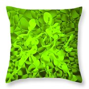 Green Tango Rhythms Throw Pillow