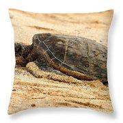 Green Turtle 3 Throw Pillow