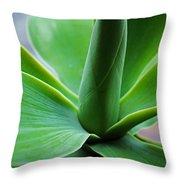 Green Twist Throw Pillow