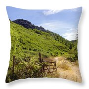 Green Valley Throw Pillow