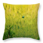 Green Vertigo Throw Pillow