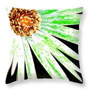 Green Vexel Flower Throw Pillow