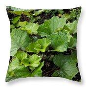 Green Vine Throw Pillow
