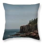 Green Water Blue Sky Throw Pillow