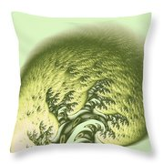 Green Wave Throw Pillow