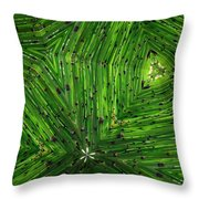 Green Weave Throw Pillow