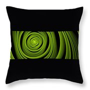 Green Wellness Throw Pillow