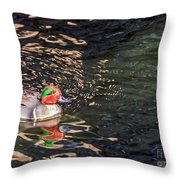 Green-winged Teal Throw Pillow