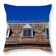 Green-wood Roof Throw Pillow
