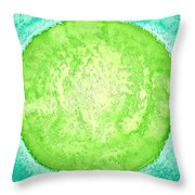 Green World Original Painting Throw Pillow