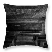 Greenbrier School Circa 1882 Throw Pillow by David Lee Thompson
