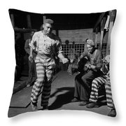 Greene Country Convict Camp In Georgia 1941 Throw Pillow by Mountain Dreams