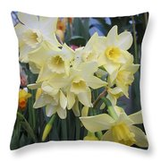 Greenhouse Daffodils Throw Pillow