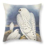 Greenland Falcon Throw Pillow