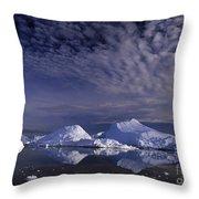 Greenland Midnight Sun Throw Pillow