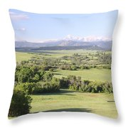 Greenland Ranch Throw Pillow by Eric Glaser