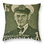 Greenland Stamp Circa 1950 Throw Pillow
