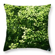 Greenleaves Throw Pillow