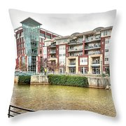 Greenville River Front Throw Pillow