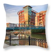 Dowtown Greenville South Carolina Throw Pillow