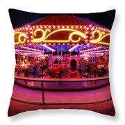 Greenway Carousel - Boston Throw Pillow