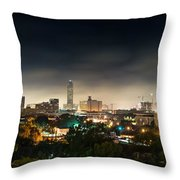 Greenway Plaza And The Galleria Throw Pillow