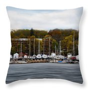 Greenwich Harbor Throw Pillow by Lourry Legarde