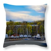 Greenwich Marina Throw Pillow