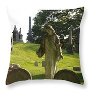 Greenwood Cemetery Throw Pillow