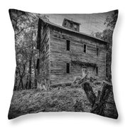 Greer Mill Black And White Throw Pillow