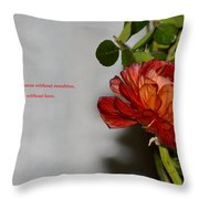 Greeting Of Love Throw Pillow