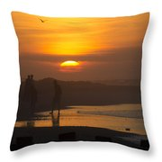 Greeting The Sunrise Throw Pillow