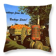 Greetings From The Buckeye State Throw Pillow