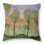Greetings From The Trees Throw Pillow