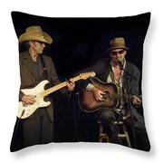 Greg Brown And Bo Ramsey In Concert Throw Pillow