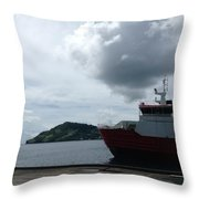 Grenadines Wharf Throw Pillow