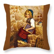 Gretel Brothers Grimm Throw Pillow