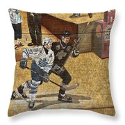 Gretzky And Gilmour 2 Throw Pillow