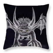 Grevil Silvered Throw Pillow