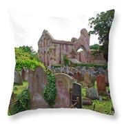 Grey Abbey Cemetery Throw Pillow